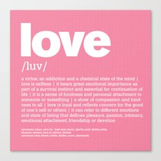 definition LLL - Love Canvas Print