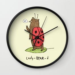 Lady-BEAR-d Wall Clock