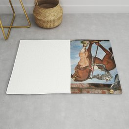 Professor Harvard on the Family painting by Jes Fuhrmann  Rug