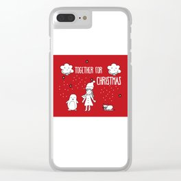 Together for Christmas Clear iPhone Case