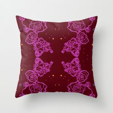 Pink Cluster Throw Pillow