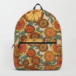 Groovy Marigold Floral Backpack