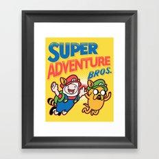 Super Adventure Bros Framed Art Print