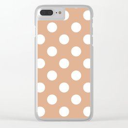 Tumbleweed - pink - White Polka Dots - Pois Pattern Clear iPhone Case