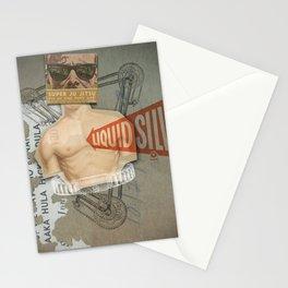 Super Ju Jitsu Liquid Silver Stationery Cards