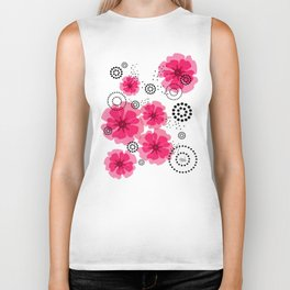 PEPPER POPPIES | fuschia Biker Tank