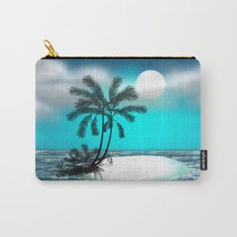 Palm trees on an island Carry-All Pouch