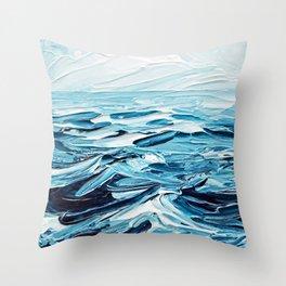 Tiny Seascape Throw Pillow