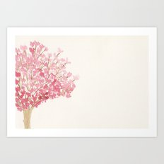 Cherry Tree Watercolor Art Print
