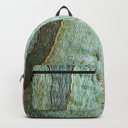 Eucalyptus Tree Bark Wood Abstract Colorful Texture Macro Backpack