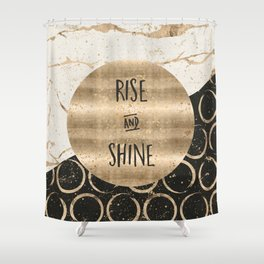 GRAPHIC ART Rise and shine Shower Curtain