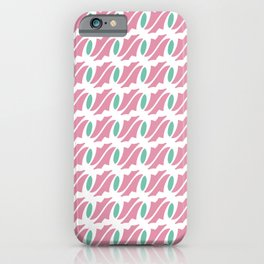 Twisted Modulated Lines Pattern iPhone Case
