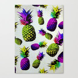 colorful pineapple pattren Canvas Print