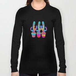 Cactus Rainbow 02 Long Sleeve T-shirt