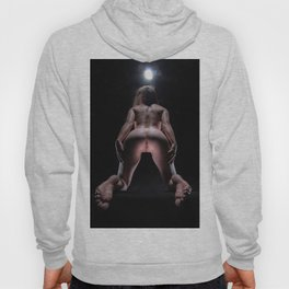 8467-LP Heaven's Gate Fit Young Woman on Her Knees Exposes the Path to Life Hoody