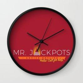 Mr. Jackpots Wall Clock