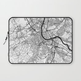 Basel Map Gray Laptop Sleeve