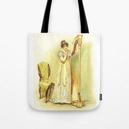 Harp, old book illustration, vintage poster Tote Bag