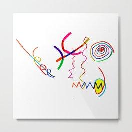 Funky Way Doodle Metal Print