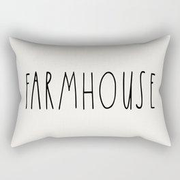 FARMHOUSE wording Typography Rectangular Pillow