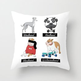 The ind dogs Throw Pillow
