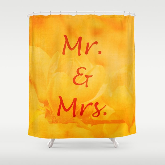 Mr. and Mrs. Shower Curtain