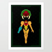 metroid Art Prints featuring Metroid by A Strom