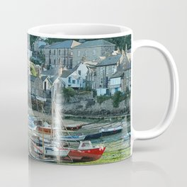 Mousehole, Cornwall. English harbour seascape. Coffee Mug