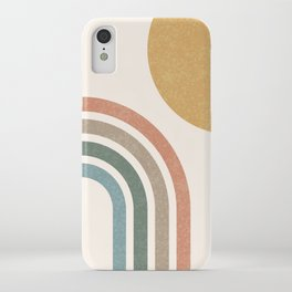 Mid Century Colorful Sun & Rainbow iPhone Case
