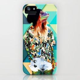 Iguana Girl iPhone Case