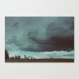 Storm over field in Warrenton, Virginia 2017 Canvas Print