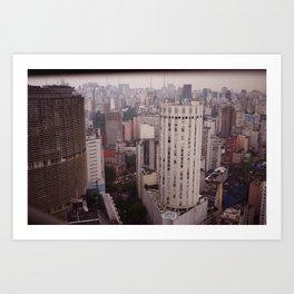 Cidade São Paulo Art Print