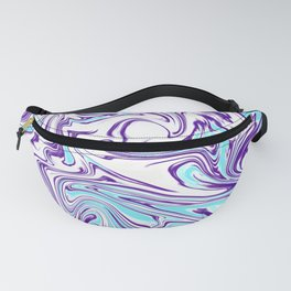 Blue purble marble. Abstract background. Fanny Pack