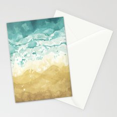 Minimalist Shore - Beach Painting Stationery Cards