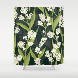 Water Hemlock Pattern Shower Curtain