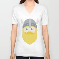viking V-neck T-shirts featuring Viking by Beardy Graphics
