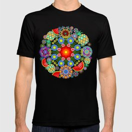 Mandalas & Exotic Fruits Pattern T-shirt