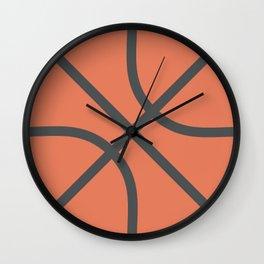 Basketball Icon Wall Clock