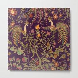 Birds of Paradise. Colorful illustration. Metal Print