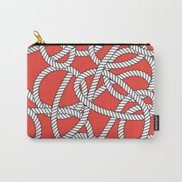 Red Rope Pattern Carry-All Pouch