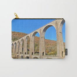 French viaduct in Rhone-Alpes region in autumn Carry-All Pouch