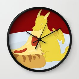 Pizza Dragon Wall Clock
