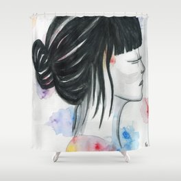 close your eyes Shower Curtain