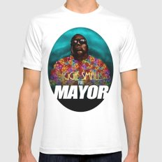 Biggie Smalls for Mayor White MEDIUM Mens Fitted Tee