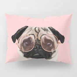 Intellectual Pug Pillow Sham