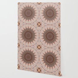 Mandala romantic pink Wallpaper