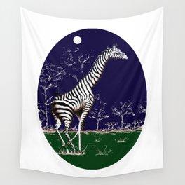 Girafe à la nuit Wall Tapestry