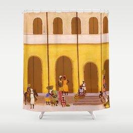 American American Masterpiece 'Haiti' by Ellis Wilson Shower Curtain