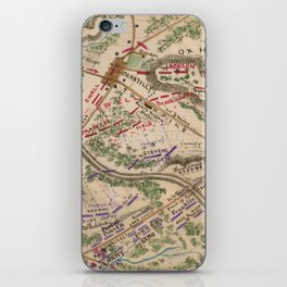 Vintage Map of The Battle of Chantilly (1865) iPhone Skin