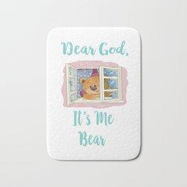 Dear God It's Me Bear Gifts Bath Mat